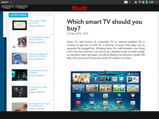 Stuff TV for Touchpad