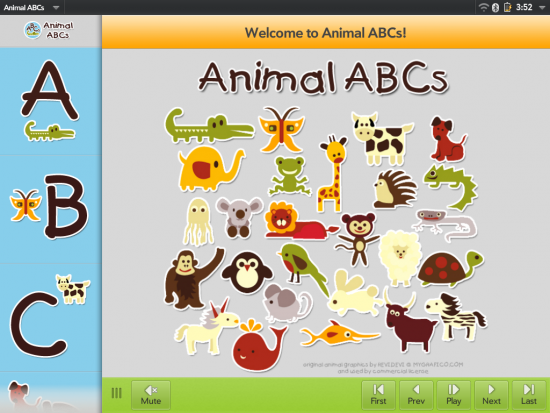 animal abcs on touchpad
