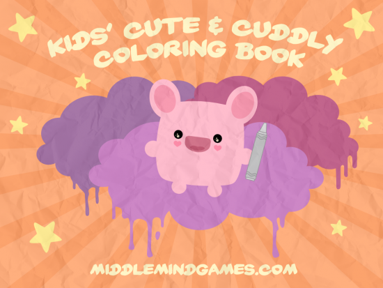kids cute and cuddly coloring book
