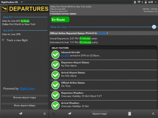 Flight Predictor HD for TouchPad