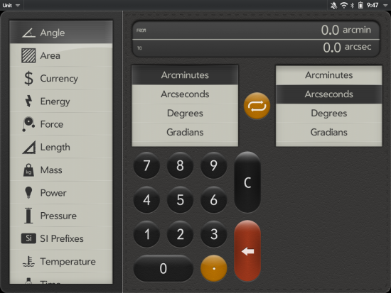 Unit App In TouchPad