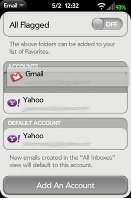 Reorder Email Account