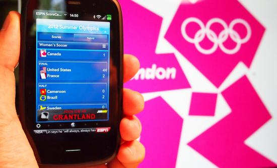 Keep up to date with the London 2012 Olympics on the go on your webOS smartphone