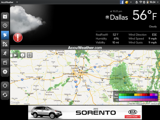 App Review: AccuWeather for TouchPad