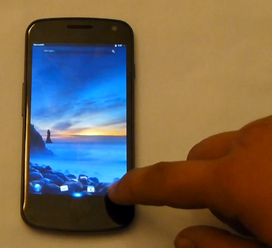Galaxy Nexus port geting a new virtual gesture area