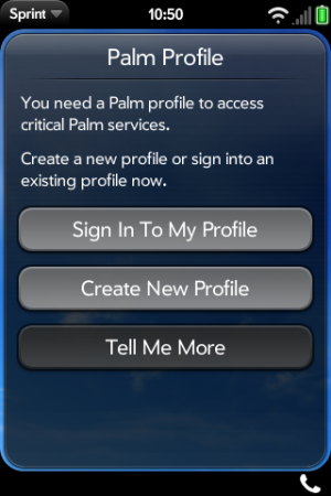 Activate palm Profile