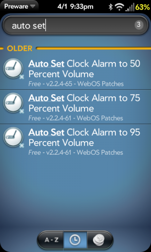 Auto Set Alarm volume patches