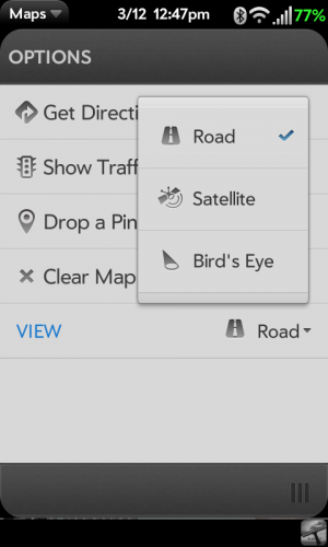 Bing Maps options for phones