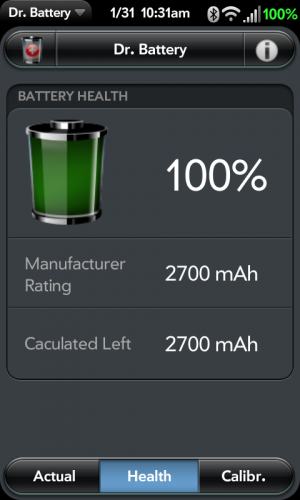 Dr Battery screenshot of Mugen 2800 battery