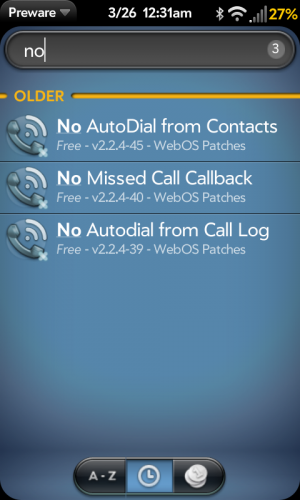 No Auto call Patches