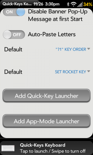 Quick Keys Launcher Shortcuts