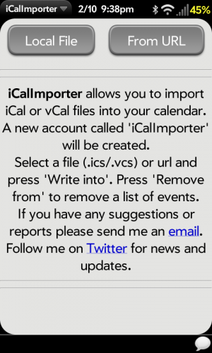 iCalImporter