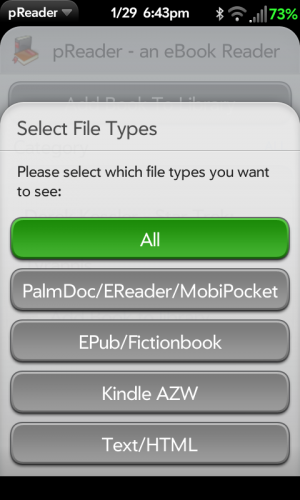 add ebook to pReader